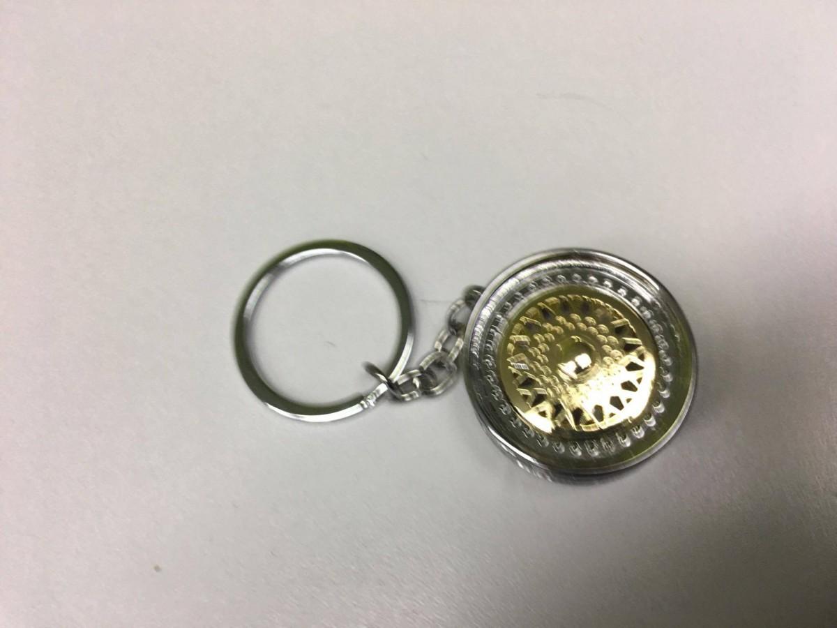 Prívesok na kľúče - zlaté koleso  eba66f00064
