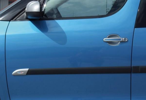 af7d8aec5344 Škoda Fabia II - Kryty originálnych bočných ochranných líšt - ABS  strieborný matný