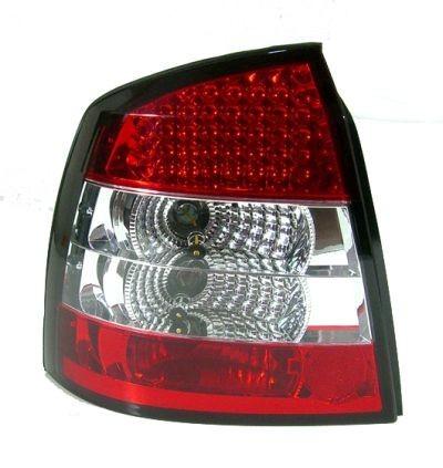 Zadné číre Lampy Opel Astra G 3 5d Led červeno