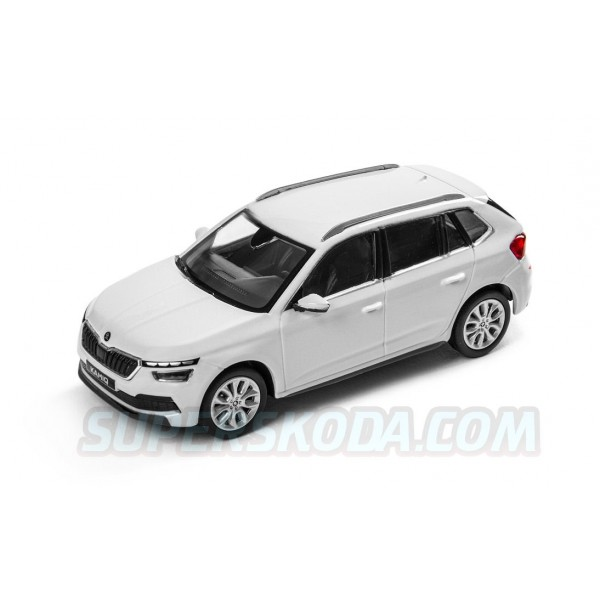 Abrex model 1:43 Škoda Kamiq  MOON WHITE