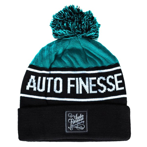Auto Finesse - Bobble Knitted Beanie - Teal