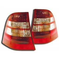 Zadné číre svetlá Mercedes Benz ML W163 98-05 red / crystal LED