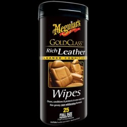 Meguiars Gold Class Rich Leather Wipes - obrúsky 25ks